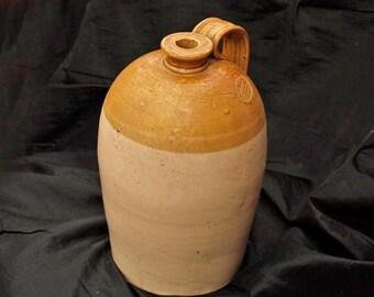 Historic Scotland Antique Port Dundas Pottery Salt Glazed Ale  Storage Bottle