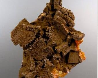 Wulfenite with Endlichite, Wulfenite Crystals, Endlichite Crystals, Rocks and Minerals, Mineral Specimen, Collectable, Arizonacrystalco