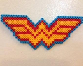 Wonder Woman Perler Bead Magnet