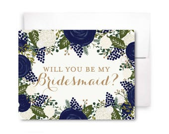 Bridesmaid Cards, Will You Be My Bridesmaid Card, Ask Bridesmaid, Bridesmaid Maid of Honor Gift, Matron of Honor, Flower Girl #CL128