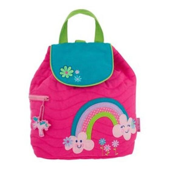 Personalized Stephen Joseph Toddler Quilted RAINBOW Backpack, Monogrammed Kids Backpack, Children's Backpack, Preschool Backpack