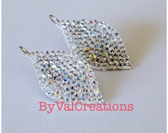 Earrings drop Swarovski Crystal ab