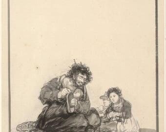 Francisco de Goya: The Blind Worker. Fine Art Print/Poster (004394)