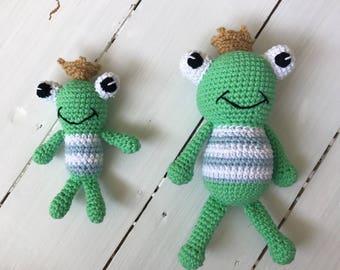 Frog King and Frog Prince Toys Crochet