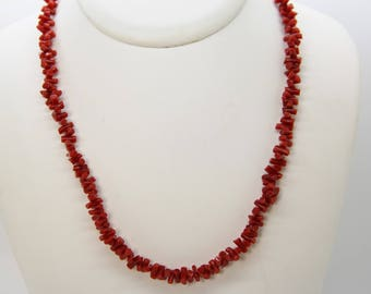 certified Corsica red coral necklace. choice 1 CC 45