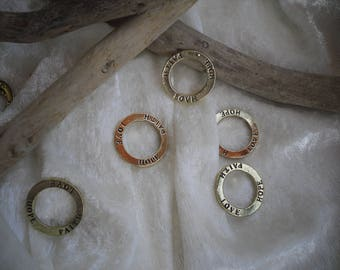 Spacer rings, metal, set of 12 pieces