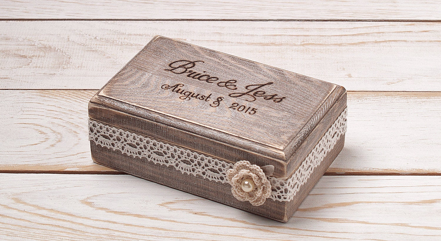 Ring bearer box wedding ring box ring holder custom wooden box for Wedding ring holder box