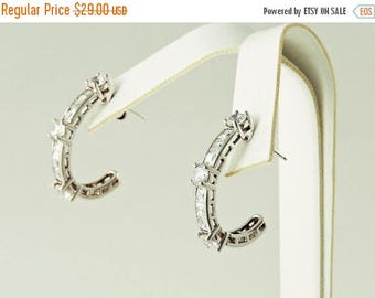 "33% Off Christmas in July Sterling Silver And Rhinestone ""J"" Earrings"