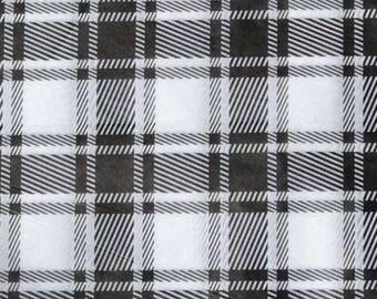 "Black & White Plaid Tissue Paper #293 - 10 Large sheets 20"" x 30"""