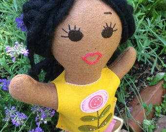 Lovingly handmade merino wool felt dolls-custom design