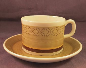 Gefle of Sweden, Ylva, coffee cup and saucer.