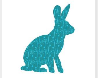 Rabbit Square Blank Card