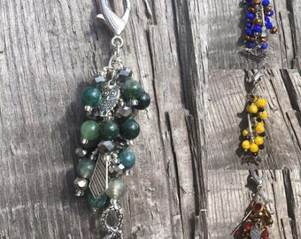 HARRY POTTER Inspired Purse Charm | HP Inspired Car Charm | Harry Potter | Hogwarts Houses | Gryffindor | Slytherin | Ravenclaw | Hufflepuff