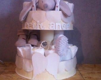 """Angel"" mixed diaper cake"