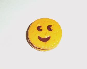 1 charm gourmet cookie smile choco 40mm