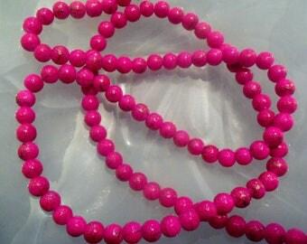 Rose gold/dark: set of 10 glass drawbench beads, spray-painted, round, 8 mm