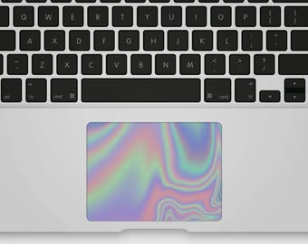 Transparent Trackpad Sticker Marble Trackpad Decal Trackpad Cover for MacBook - Magic Iridescence Holographic
