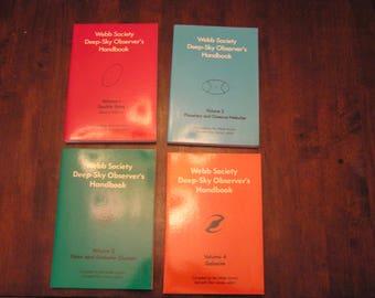 4 Volume Webb Society Deep- Sky Observer's Handbook 1975-81
