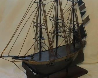 Handmade Metal Sailboat