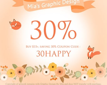 30% Coupon Code : 30HAPPY .............. Please Do Not Purchase This Listing!