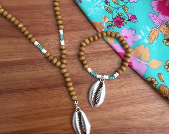 Tahiti necklace + bracelet set