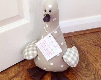 Doorstop Duck, Eric! Duck Doorstop, Fabric Doorstop, Novelty Doorstop, Novelty Gift, Personalised Gift, Shabby Chic Duck, Novelty Gift