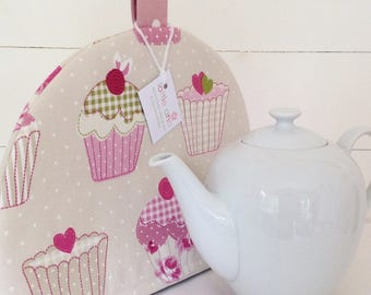 Cup Cakes Tea Cosy, Tea Cosy, Tea Cosies, Kitchen Accessory, Gift for Her, Tea, Mothers Day Gift, Cup Cakes, Shabby Chic Tea Cosy, Pink Cosy