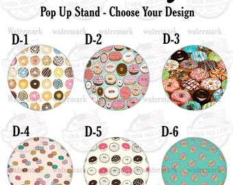 Pop Socket Donut Design Smart Phone Tablet Expanding Pop Up Stand Grip Holder Popsocket