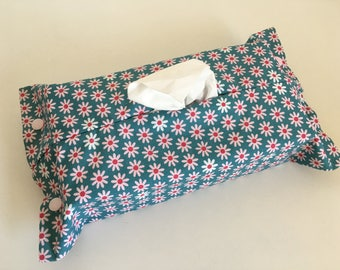 Housse pour boîte de mouchoirs de taille standard, fleurs, marguerites