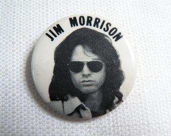 Vintage 70s Jim Morrison - The Doors Pin / Button / Badge