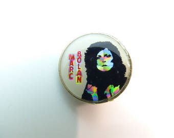 Vintage 70s Marc Bolan / T. Rex - Prism Style Dome Pin / Button / Badge