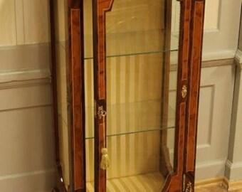Baroque glass Cabinet antique Rococo style wardrobe Louis XV MoVi0687