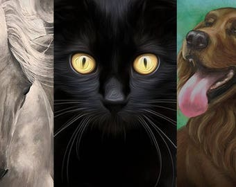 Pet Portrait Artwork // Animal Portraits in Acrylic on Canvas// Original Artwork by Artist Tony Rector // Pet Painting Gift from Your Photos