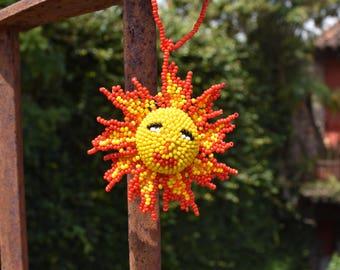 Sunshine Sun Hand Beaded Ornament made in Guatemala (sold individually)