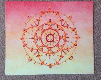 One Of A Kind Mandala Sunset Canvas