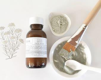 DETOX FACE MASK | Clear | Clay Mask | Oily Problematic Skin | Pore Minimiser | Exfoliation | Acne | Calm |