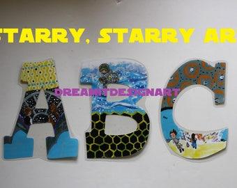 Starry Starry Art Alphabet Wall Letters