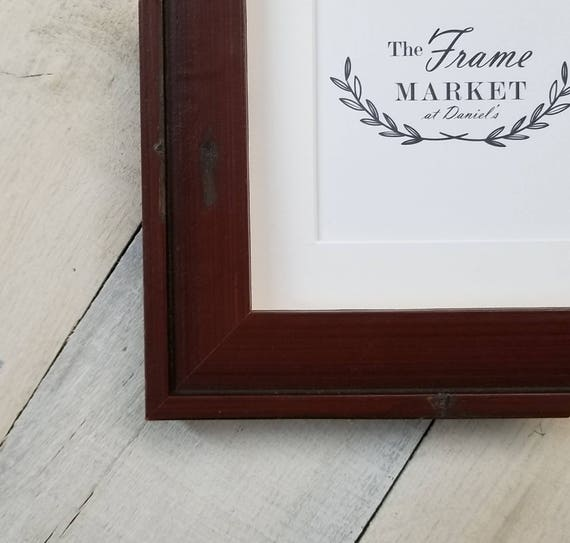 Dalaigh Red Wood Picture Frame With White Mat 8x10 9x12