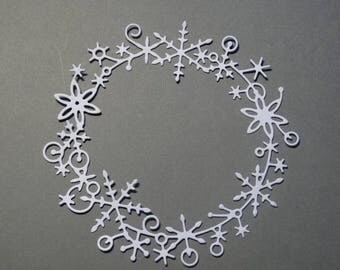 Cut paper Christmas wreath