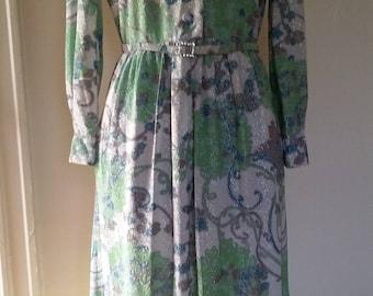 Vintage 70s Multi Colored Floral Dress