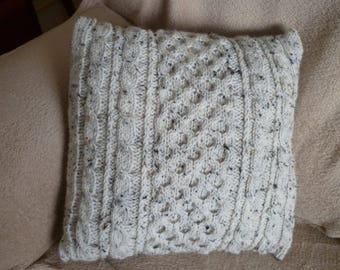 Bespoke, Handmade Moss Stitch Cushion Pillow covers. Plus matching Throws. Made in UK