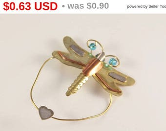 Dragonfly Brooch Cute Dragonfly Pin Embellishment For Craft Blue beads Copper Alloy Gold Tone Insect Summer Decor Cheap Jewelry Under 5 2 1