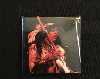 Vintage 80's Jimi Hendrix Pin/Button