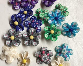 194 flower polymer clay beads