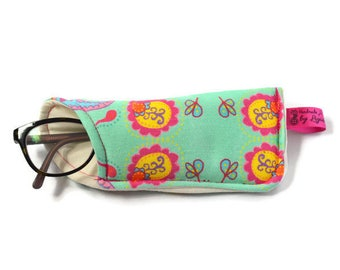 Eyeglass Cases, Spec Case, Eyeglass Pouch, Pencil Case, Pencil Pouch in Exclusive Handmade by Ligia Fabric, Gift for Her, Christmas Gift
