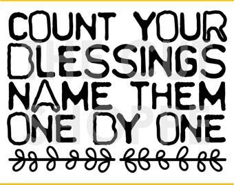 The Count Your Blessing cut file is a large phrase, that can be used for your scrapbooking and papercrafting projects.
