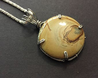 Wrapped Jasper Natural Stone Necklace