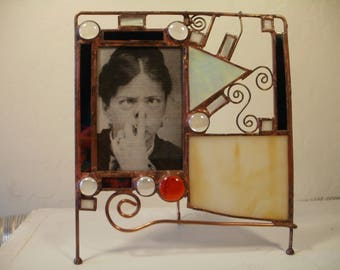 Abstract Stained Glass Picture Frame
