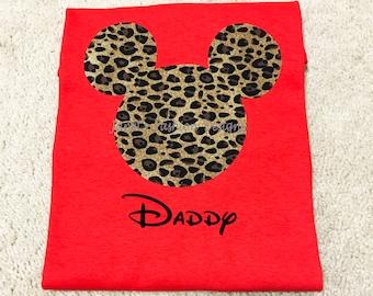 Daddy Leopard Tshirt - Disney's Animal Kingdom Matching Adult Shirt - Mickey's Birthday Outfit - Disney's Daddy