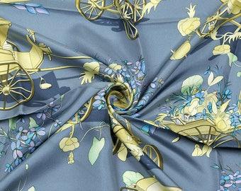 "HERMES SCARF Silk ""Au Bois Dormant"" by Madame Stroppa 90cm Carre 100% Auth"